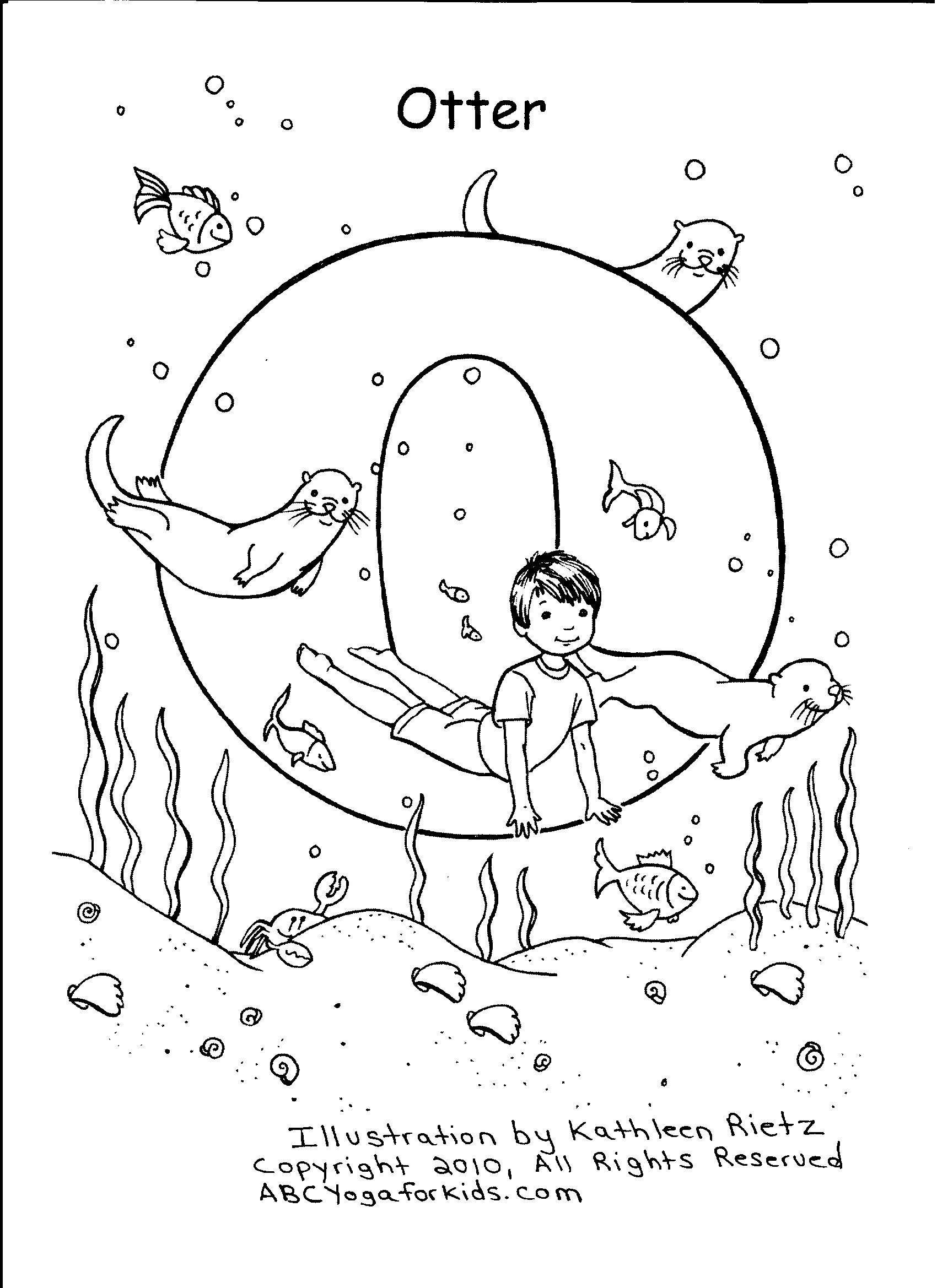 2017 Coloring Contest - The ABCs of Yoga for Kids