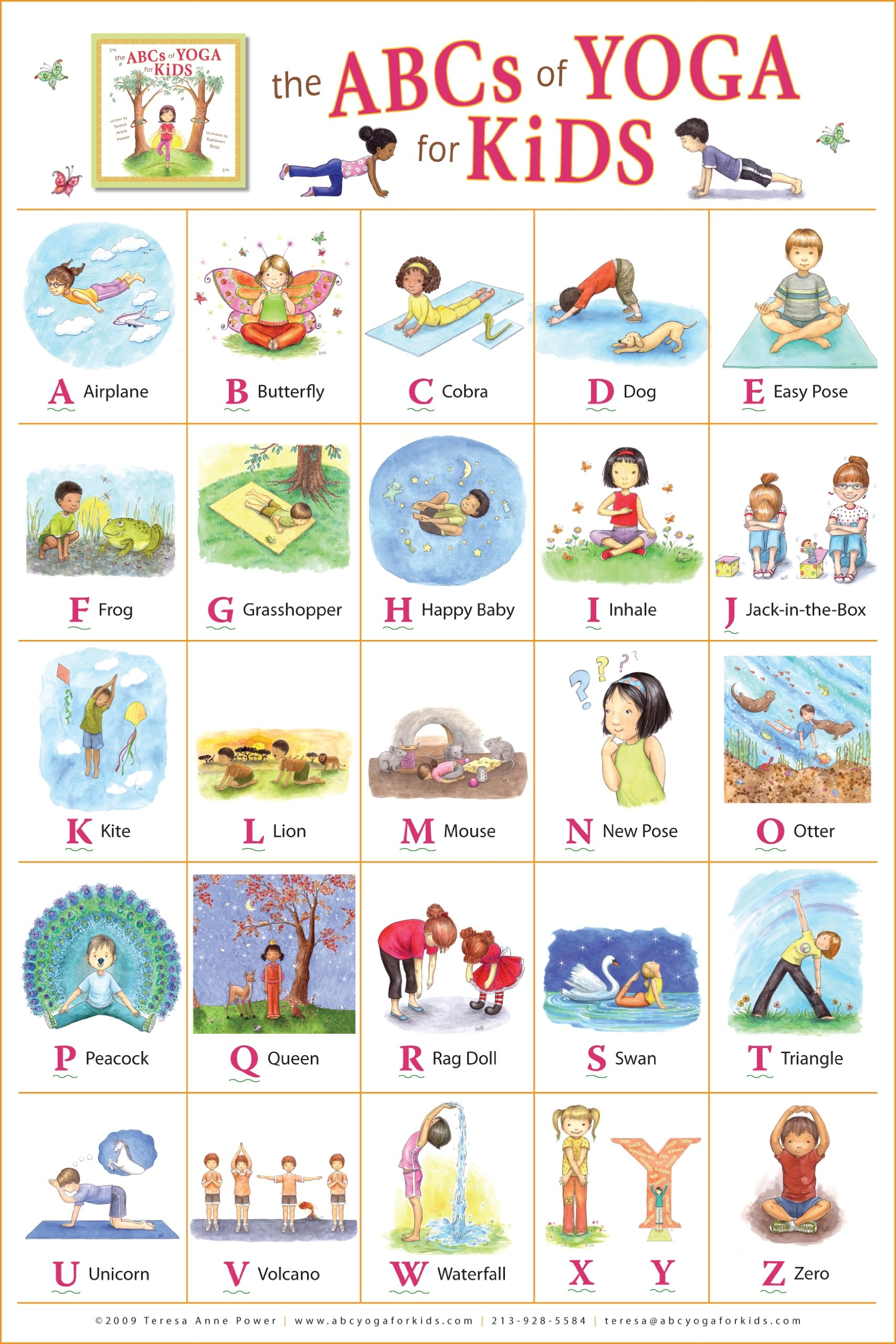 The ABCs Of Yoga For Kids 20 X 30 In Poster