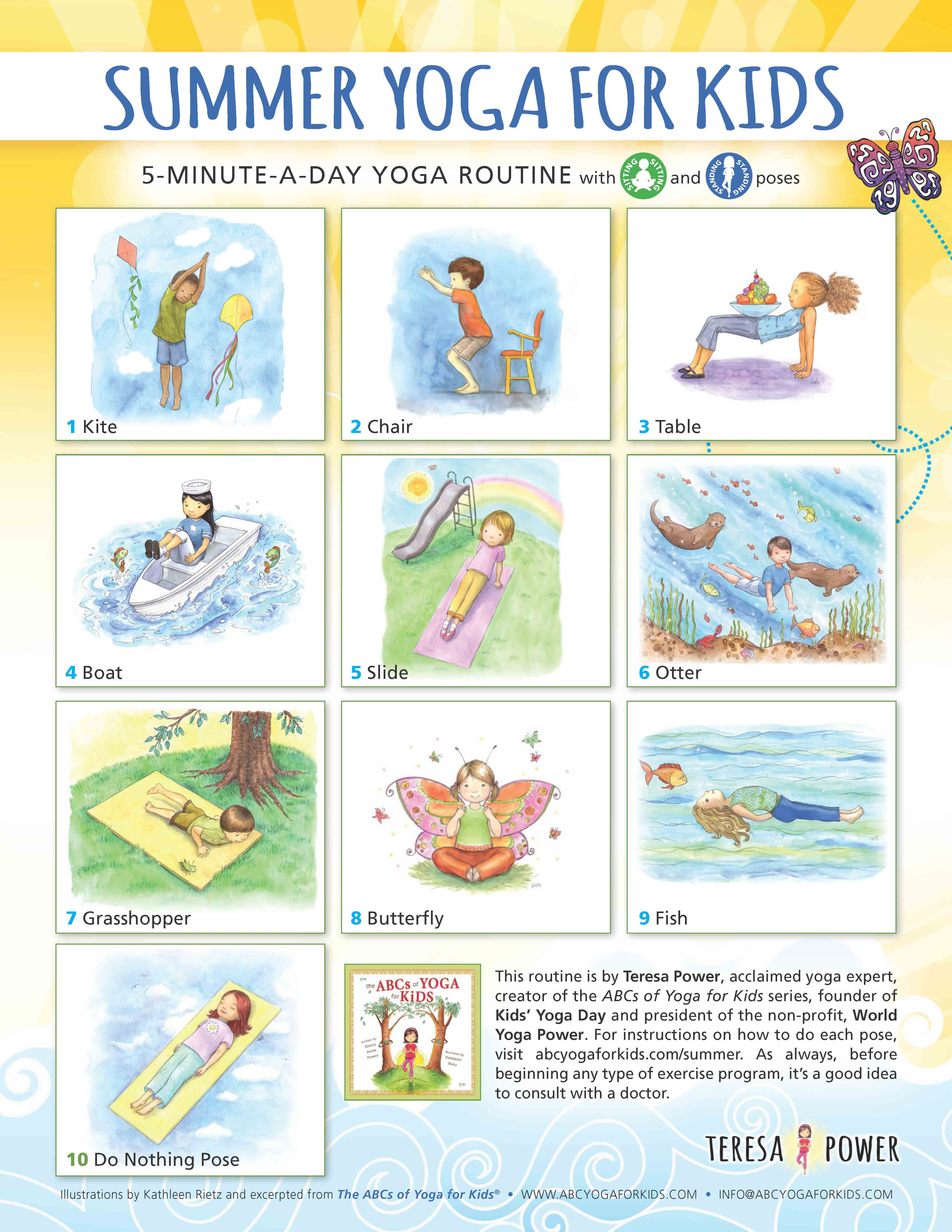 The Summer To Help Kids Incorporate A Healthy Activity Into Their Lifestyle Click On Image Download PDF Of This Easy Fun Routine
